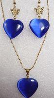 blue opal pendants earrings