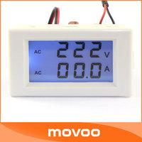 110V/220V 100-300V/100A AC Dual display Voltage Current Monitor Meter 2in1 Voltmeter Ammeter + Current Transformers #100102