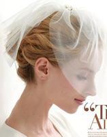 The bride veil headdress Diamond Pearl Wedding dress ornaments wedding veil