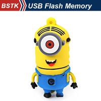 4GB Portable Plug and Play The Minions Cartoon Figure Style USB Flash Memory (Blue) Free Shipping