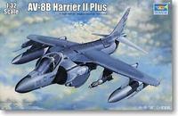 Trumpeter Aircraft Model 1/32 AV-8B Harrier II + transformation based attack aircraft 02286 Military model toys 45.8cm 521pcs