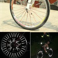 36pcs/lot Bicycle Wheel Reflective Light & Bicycle Wheel Spoke Reflectors & Bike Reflective Mount Clip Warning Strip