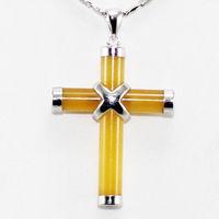 figure  Jade Cross Pendant Necklace