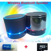 Wireless sound box free ship portable mini fm radio micro sd support Bluetooth speaker portable music player sound box+4GB TF