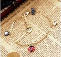 4pcs/lot Fashion jewelry exquisite ladybug Women anklets fashion accessories