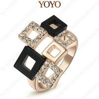 Peasonality Roma Ring 18K Rose Gold Plated Austria Crystal Fashion Environmental Jewelry (YOYO R005R1)