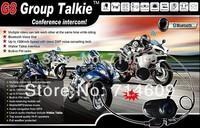Latest! bluetooth helmet intercom BT multiple chat communication headset/ single packing/1000 range/bluetooth headphone