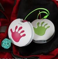 100pcs 2014 New mini palm Cartoon speaker TF card mp3 player loudspeakers with FM radio free DHL