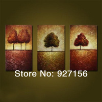 High Quality! 100% Hand Painted Canvas Oil Painting Abstract Three picture combination 3 panel Tree Home Wall Art Decor
