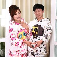 Thickening flannel sleepwear winter coral fleece lounge set fashion lovers sleepwear