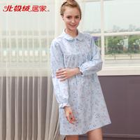 Autumn lounge 100% cotton women's sleep set Women b711314712 slim