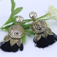 2014 New Steampunk Gold Lion Head Tassle Drop Dangling Earrings For Women Fashion Vintage Statement Accessories Party Dress