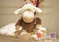 Super cute 1pc 35cm NICI home decoration plush wolf coat cover sheep hold doll stuffed toy children baby gift