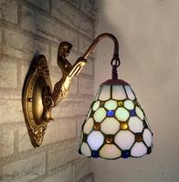 Tiffany lamp fashion wall lamp brief mirror light bed-lighting multithread rustic balcony wall lights