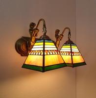 Tiffany lamps brief double slider wall lamp mirror light aisle wall lamp