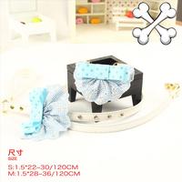 Teddy vip bichon dog pet blue square bib necklace set pet collar