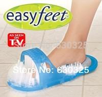 Hot Sale Easy feet Foot Exfoliates Scrubber Cleaner Brush Care Massager Bathroom Bending Slippers Sandal Shoes