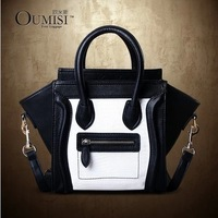 Free shipping 2014 Vintage Smiley Bag women/girl messenger bag Leather Phantom Designer Women's Handbag top shoulder bag