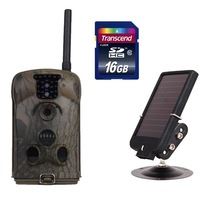Free Shipping!!16GB SD CARD+New Ltl Acorn 6210MM HD 1080P Mobile MMS Email Scouting Hunting Game Camera+solar panel