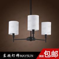 American wrought iron pendant light modern brief fashion lamp cloth art lamp