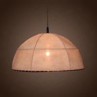 American jute fabric pendant light brief handmade lighting