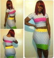 2014 women dresses plus size women clothing sexy club wear 2 piece bandage dress two piece bodycon woman clothing