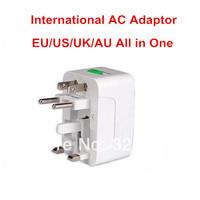20pcs/lot Portable Universal AC Travel International Charger Adapter EU AU US UK Plug Adaptor Converter 4 in 1 Free Shipping