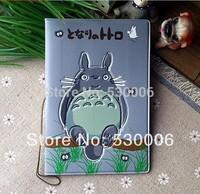 Retail New Fashion PU leather 3D Cute Totoro Cartoon Short Design Travel Passport Holder Cover/ID Card Case Bag