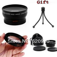 100% GUARANTEE Super Wide angle 52mm fisheye w/ macro  + Macro + Lens Bag for Nikon D5000 D5100 D3100 D7000 D3200 D80 D90+GIFT