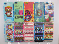 10pcs/lot Various style 2in1 TPU Armor hybrid PC Style Hard Case Cover For iPhone 5 5s