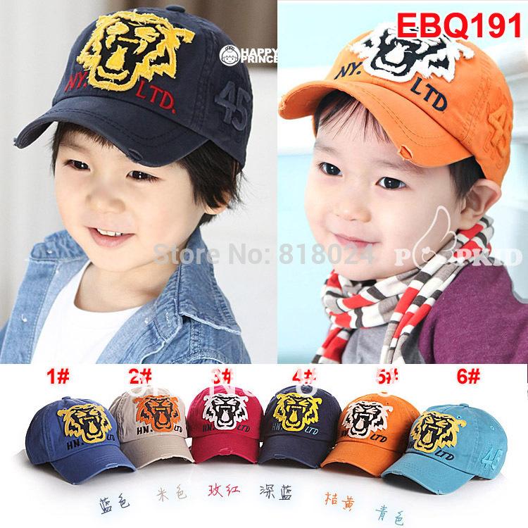 Retail 1pc High quality New 2014 Children Hat Baseball cap Tiger Cowboy Animal Hats Cap Unisex Free shipping Drop shipping(China (Mainland))