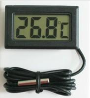 Mini LCD Waterproof Glodfish Jar Fish Tank Thermometer Refrigerator Freezer Ice Box Car Use Thermograph -50~80 Degree