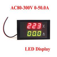 LED Dual Display AC 80-300V 0-50.0A Digital Voltage Meter Ammeter Voltmeter with Current Transformer