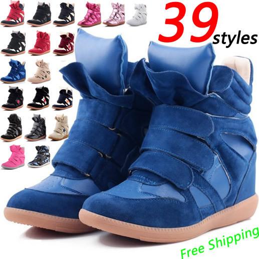 Livraison gratuite! 2014 chaude! Sneakers isabel marant en suède, femmes bottes en cuir véritable! Taille l'ue. 35-41, pas de tags! Expédition de baisse