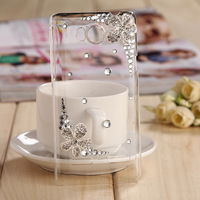 For Huawei U8950D U9508 G600 mobile phone crystal case -Silver flower with five petals