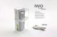 10pcs IWO P12 2400mah Mini power bank with led flashlight for mobile phone tablet PC 2400 MAH usb battery power bank