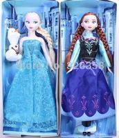 2014 new 2 pcs/lot Frozen dolls for kids,Anna Elsa dolls,girl dolls free shipping