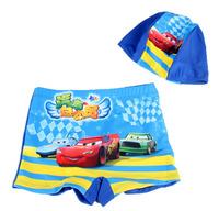 Boys swimming trunks Classic Swimwear SpongeBob Square Pants+hat Swim suit set
