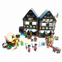 Ausini Building Blocks Medieval Farm Educational  Bricks Toys for Children Compatible Bricks Hot Toy Model Building Gift