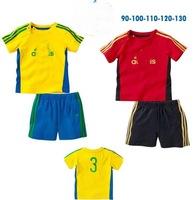 children shampooers jogging tracksuits sport set short sleeve T-shirt+shorts pants kids baby boys Summer clothes Suit