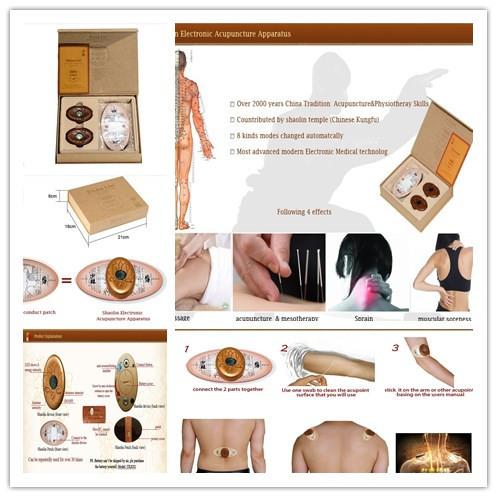 Versandkostenfrei!!! Gesunde pflege marke Shaolin elektronischen vorrichtung zur akupunktur, körper-massagegerät und Entspannung, tropfenverschiffen