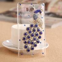 For Huawei U8950D U9508 G600 mobile phone crystal case -Blue Peacock