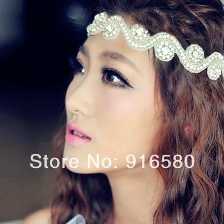 New Coming 2014 White Bridal Headband Headpiece Wedding Hair Accessories Crystal Headband free shipping(China (Mainland))