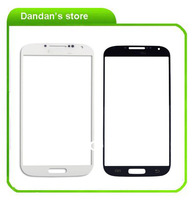 10pcs/lot White/Black Front Outer Screen Glass Lens Replacement Glass for Samsung Galaxy S4 i9500 free shipping