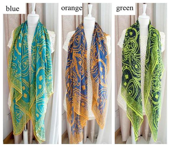 fashion female Korean ancient Persian lines hit color silk shawl cape Bohemia cotton beach towel Scarf,Wholesale! free shipping!(China (Mainland))