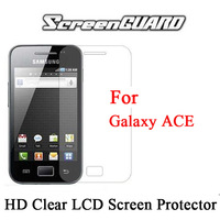 For Samsung Galaxy Ace S5830 Screen Protector HD Clear LCD Guard Cover Ultra-thin Film with Cloth Free DHL 500pcs/lot