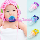 2Pcs/LOT 3Sizes&Colors Large Diameter Silicone Safe Baby Food Nipple Feeder Fresh Juice Pacifier Feeder for Baby Nipples(China (Mainland))