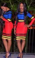 aliexpress celebrity club dresses celebrity club dresses colorful bodycon dresses knee-length clubwear party dress