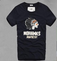 New mens t shirts fashion 2014 summer short sleeve  tees Amerindian printed causal cotton men o-neck male t-shirt  free shipping