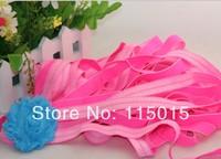 10 Yards Neon Pink 1.5cm Width Glitter Fold Over Elastic for Hair Headbands, Hair Accessory Glitter FOE Free Shipping